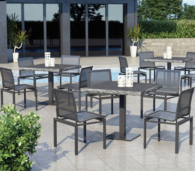 Allure Mesh Aluminum · Homecrest Outdoor Living Dockside Collection