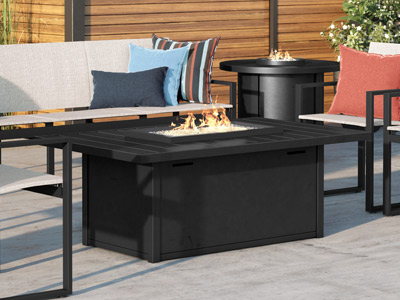 Breeze Fire Tables Aluminum
