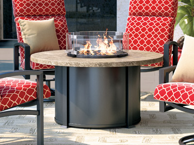Homecrest Outdoor Living Sandstone Fire Tables collection