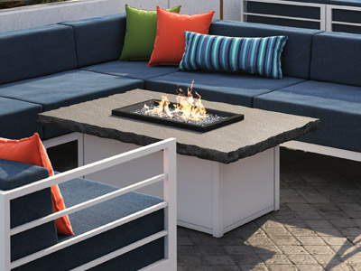 Homecrest Outdoor Living Slate Fire Tables collection
