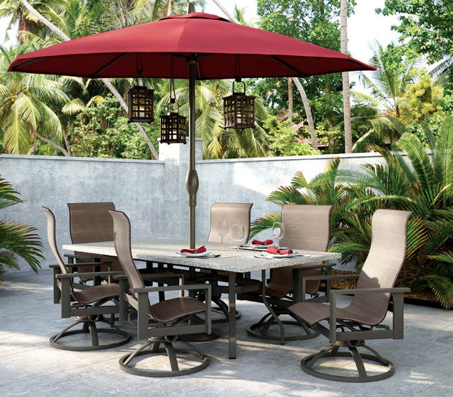 patio furniture with umbrella Outdoor Patio Furniture | Umbrellas | Homecrest Outdoor Living patio furniture with umbrella