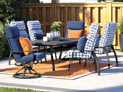 Homecrest Outdoor Living Holly Hill Cushion Dining collection