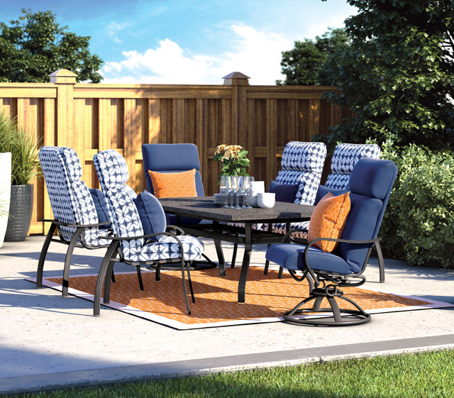 Holly Hill Cushion Dining - Outdoor Patio Furniture Holly Hill Cushion Dining Homecrest