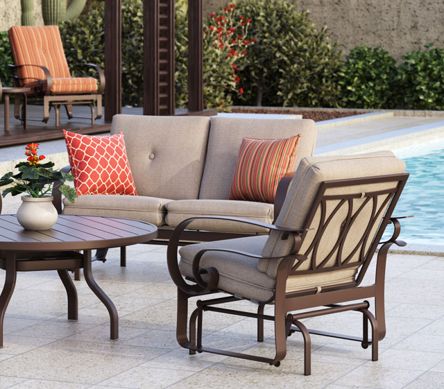 Outdoor patio furniture emory cushion homecrest for Homecrest outdoor furniture