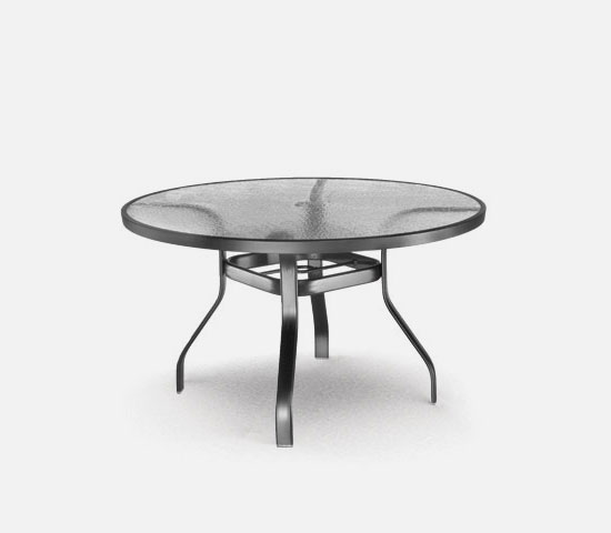 48 Round Dining Table With Hole Ht 27 37 Universal Aluminum Base Model Includes Both Top